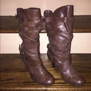 Brown Heel Boots
